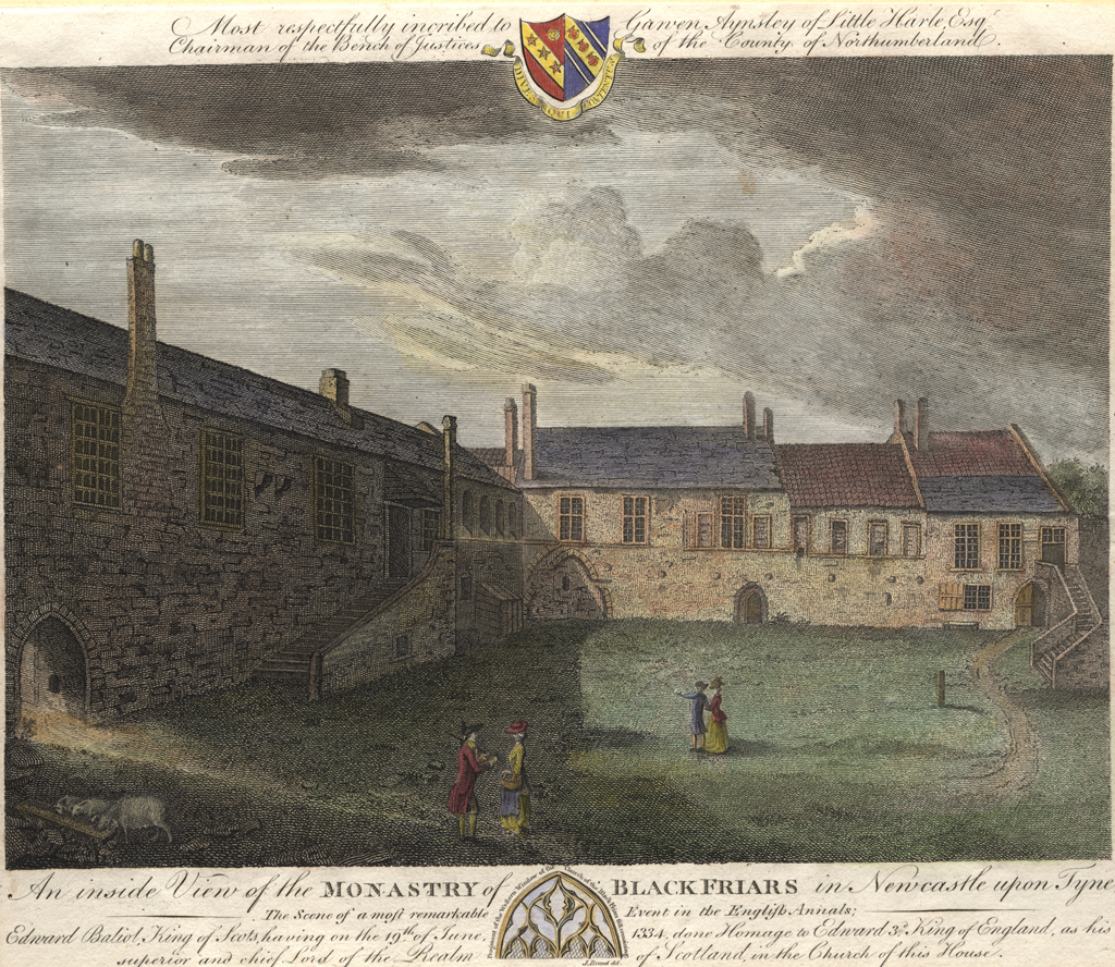 An inside View of the Monastery of Blackfriars in Newcastle upon Tyne