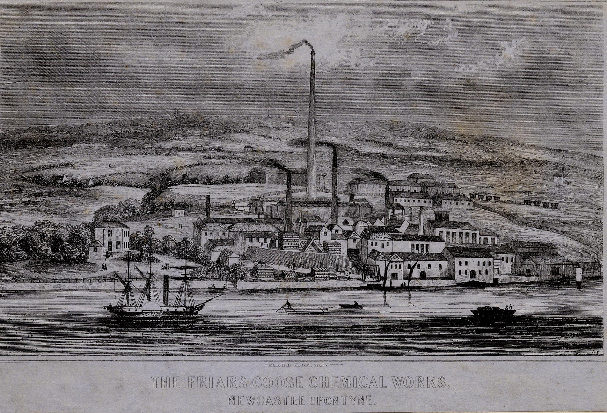 Engraving of Chemical Works, Friars Goose